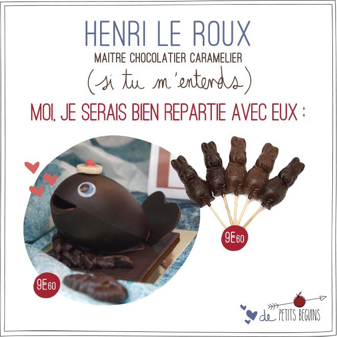 Henri Le Roux - Vitrine Pâques Chocolat - Petits Béguins