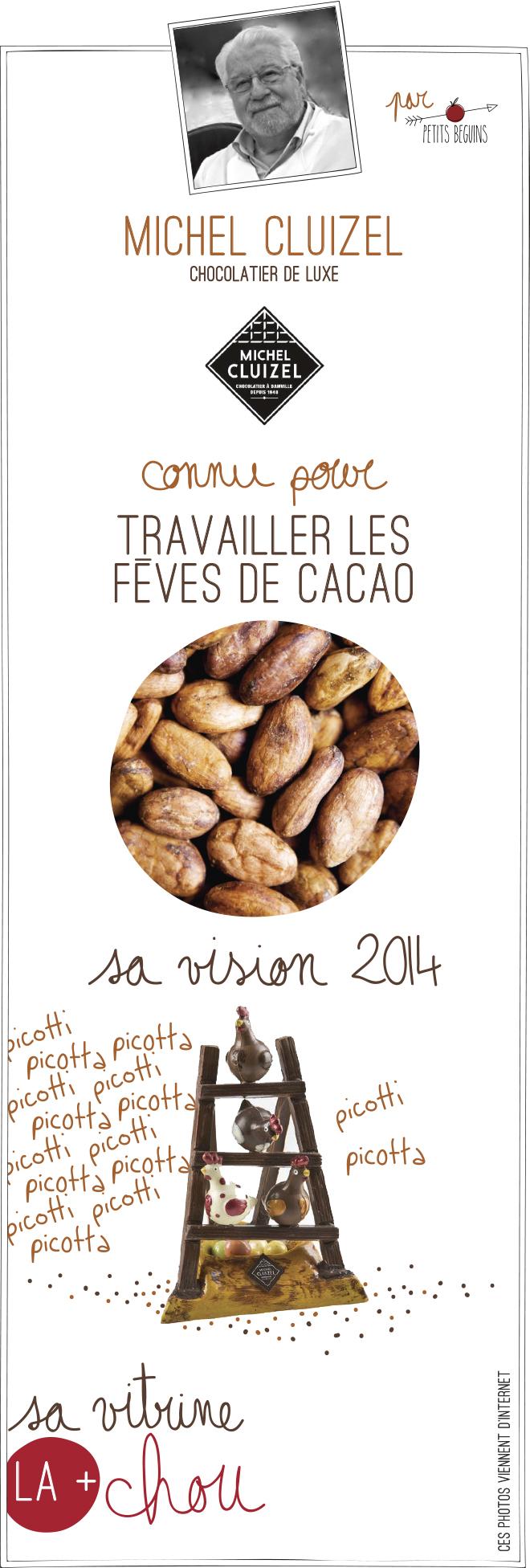 Michel Cluizel - Vitrine Pâques Chocolat - Petits Béguins