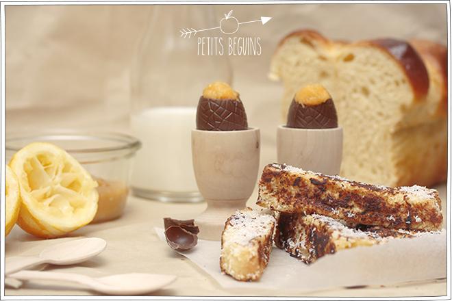 Oeuf chocolat à la coque de Pâques - Goûter - Petits Béguins