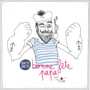 Fête des Pères - Carte de voeux - Illustration - Petits Béguins