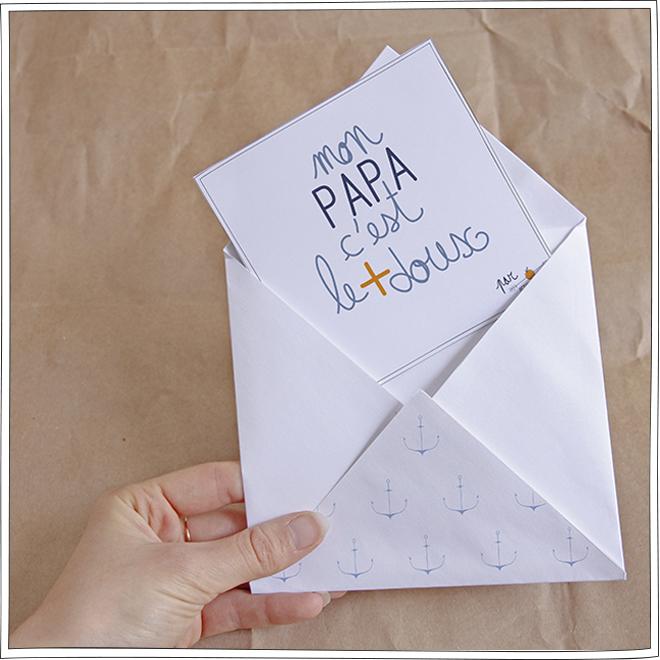 Fête des Pères - DIY - Enveloppe personnalisée - Petits Béguins