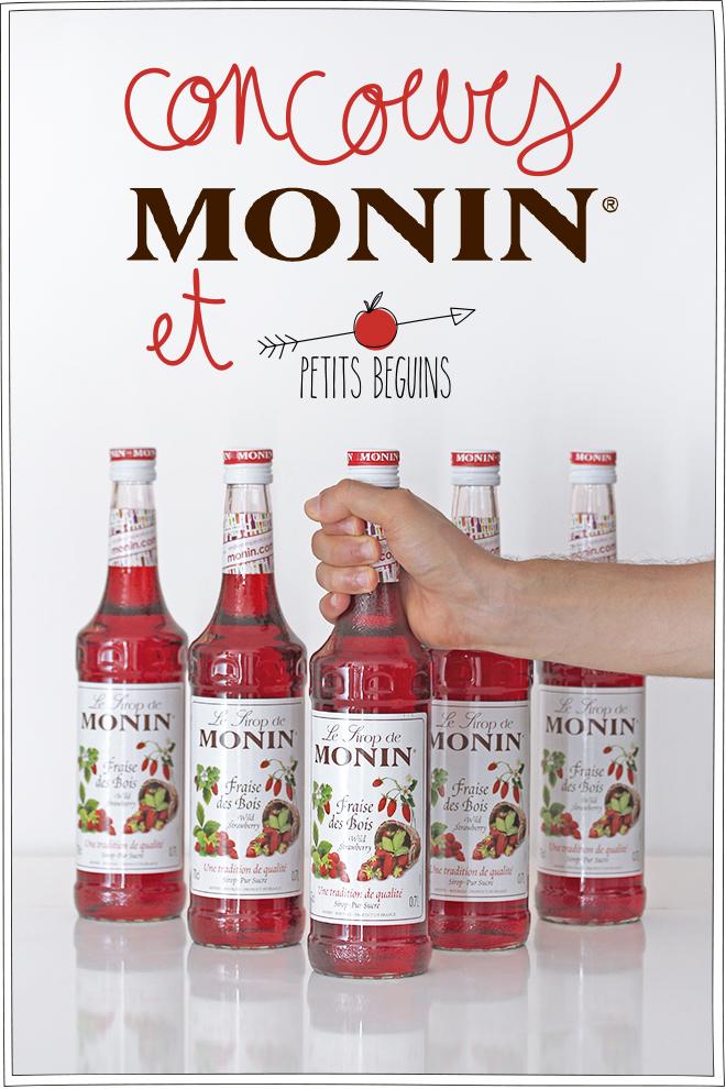 Concours - Monin - Sirop à l'eau - Petits Béguins
