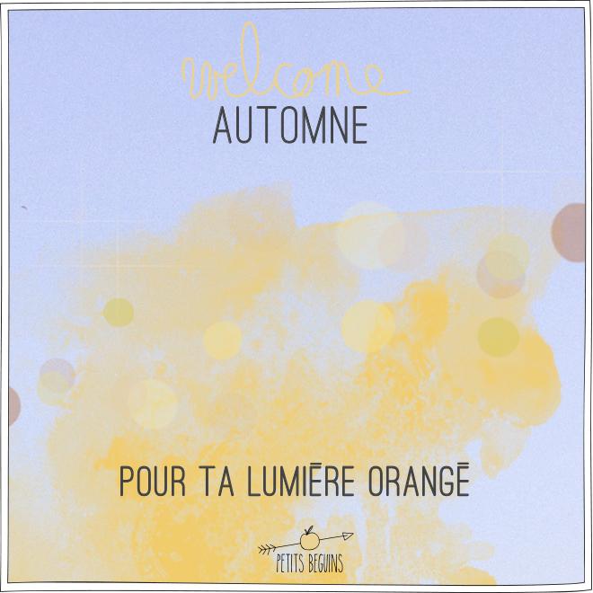 Welcome Automne - Illustration - Petits Béguins