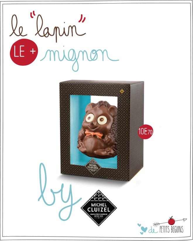 Michel Cluizel - Pâques 2015 - Fripon le hérisson - Petits Béguins