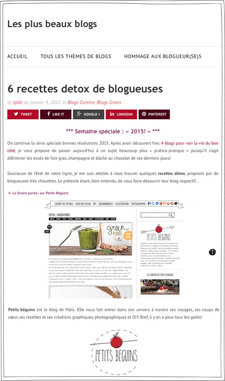 Les Plus Beaux Blogs - Article - Petits Béguins