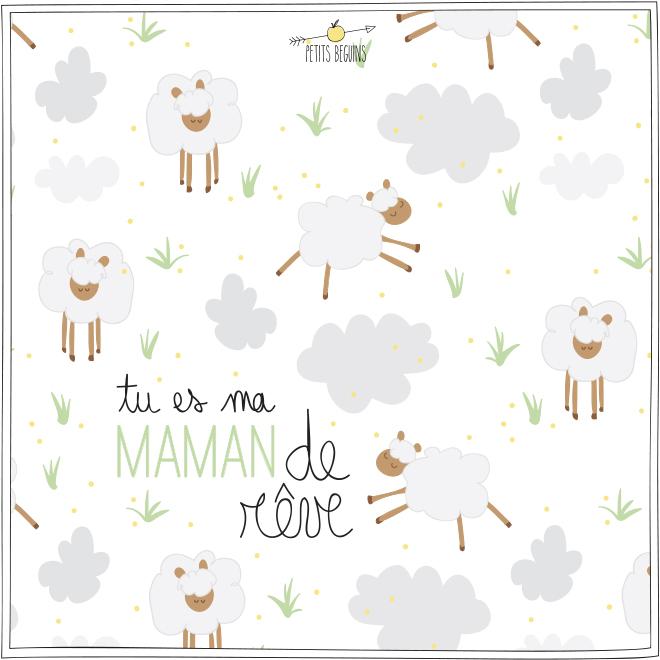 Fête des Mères - Carte de voeux - Illustrations - Petits Béguins