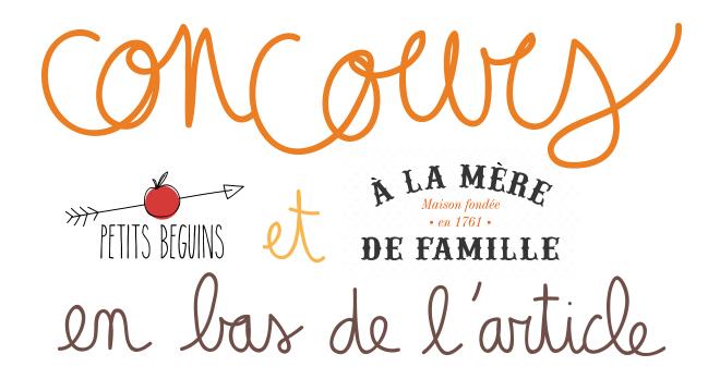 Merci - Concours - À la mère de famille - Petits Béguins