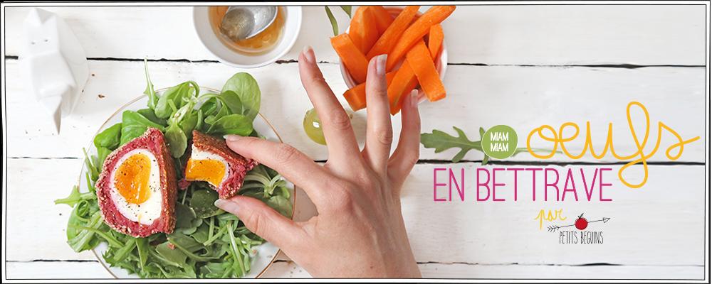 Oeufs en betterave - Recette facile - Petits Béguins