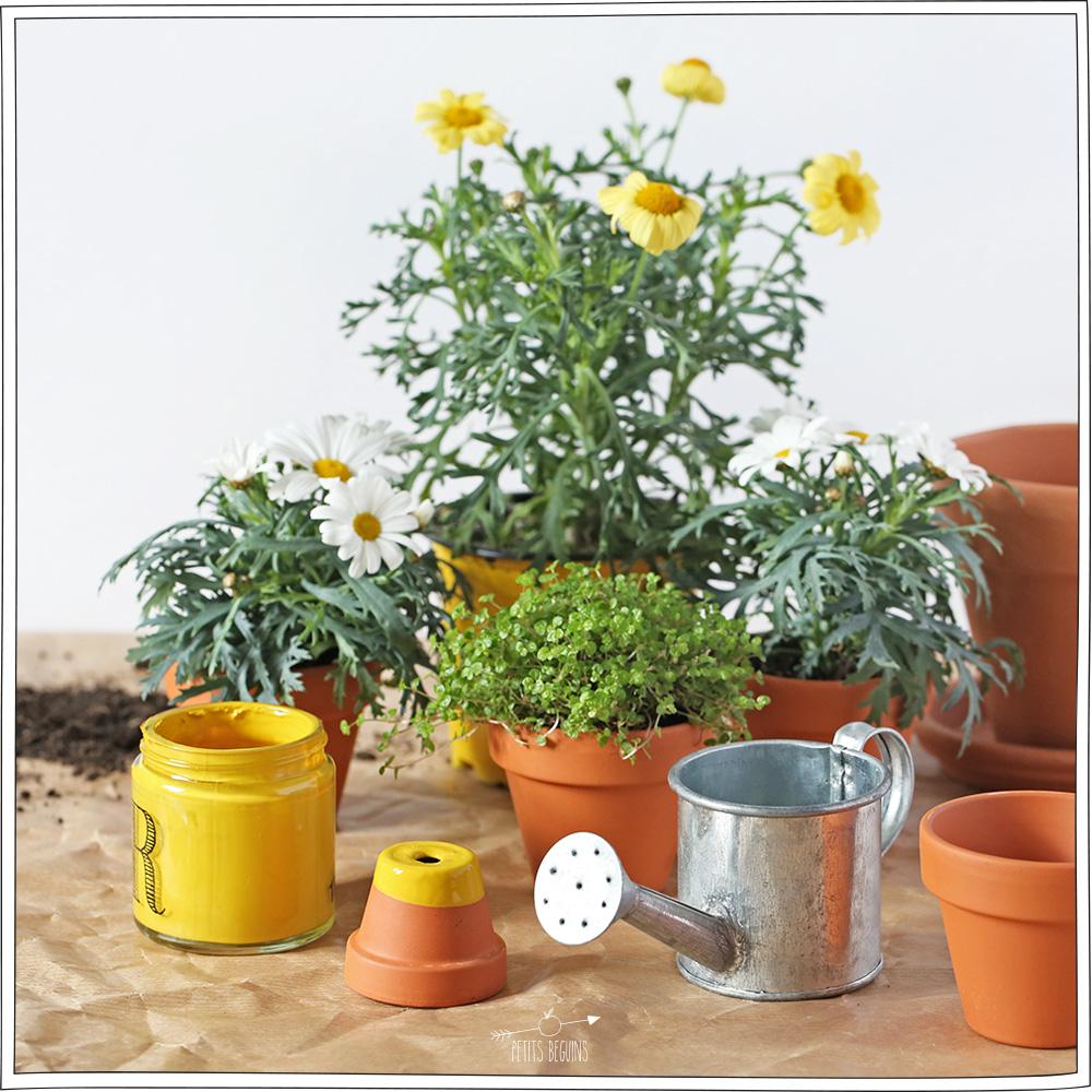 DIY - Pots de fleurs - Printemps - Petits Béguins