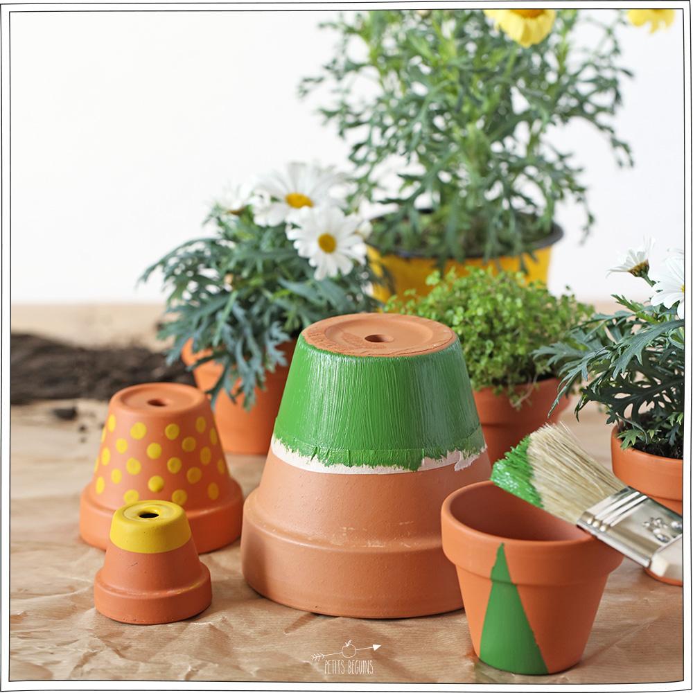 diy pots de fleurs color 201 s petits b 233 guins