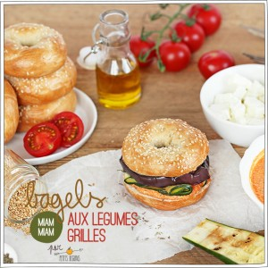 Bagels aux légumes grillés - Recette - Petits Béguins