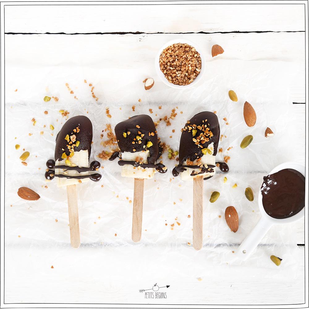 Glace de banane -chocolat - Gourmandise - Petits Béguins