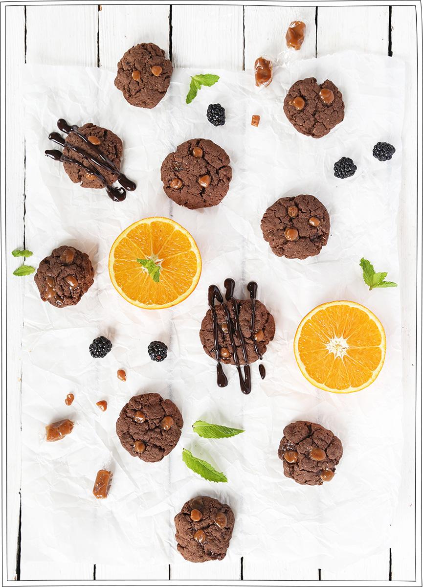 Cookies chocolat caramel au thé - Recette Petits Béguins
