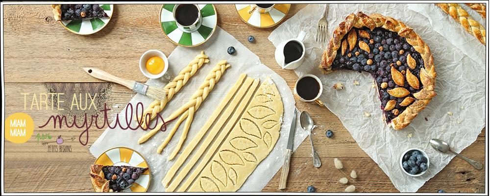 Tarte myrtilles / amandes - Recette et gourmandise - Petits Béguins