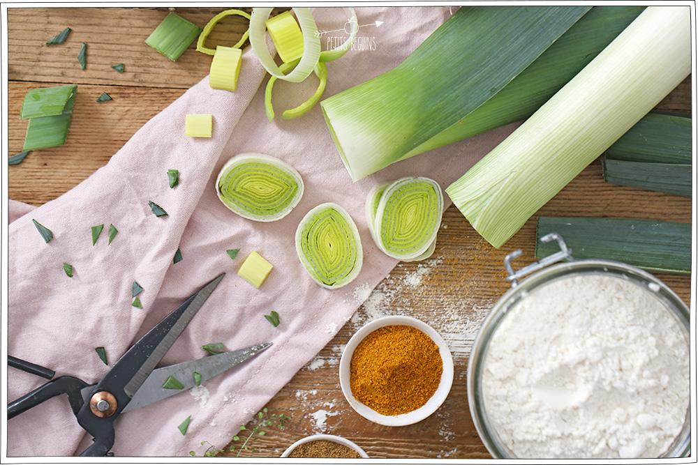 Gaufres aux poireaux - Recette veggie et sans lactose - Gourmandise - Petits Béguins