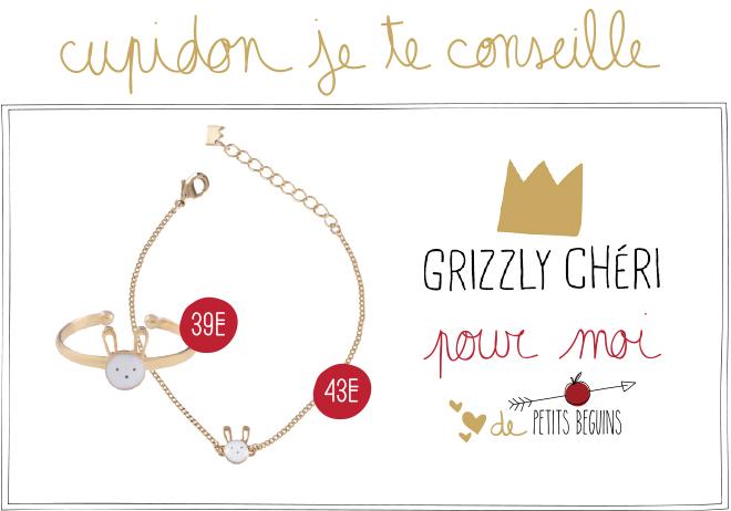 Idées cadeaux Saint-Valentin - Coup de coeur - Grizzly Chéri - Petits Béguins