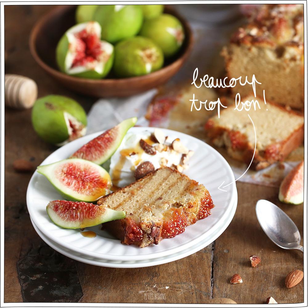 Cake Figue Amande - Recette sans lactose - Petits Béguins