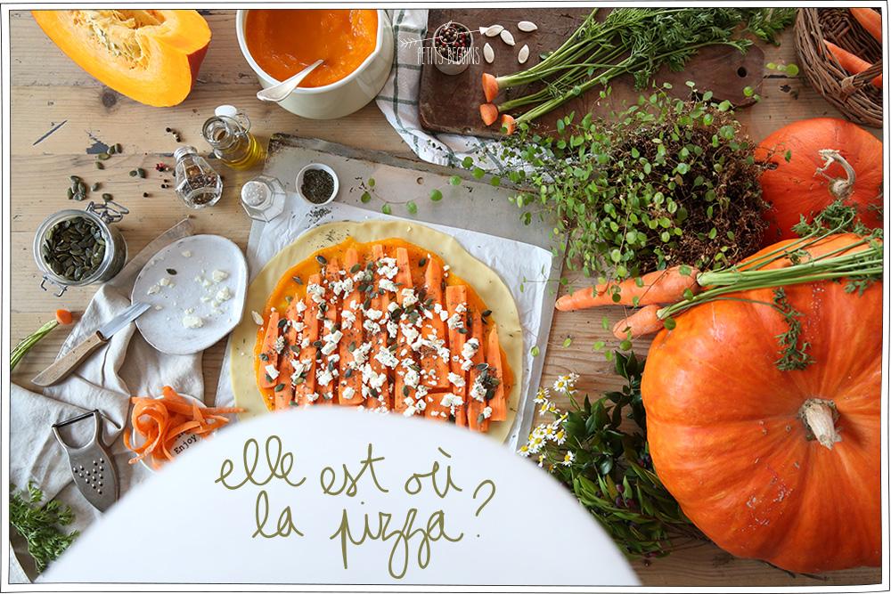 Pizza Potiron - Recette d'automne - Veggie - Petits Béguins