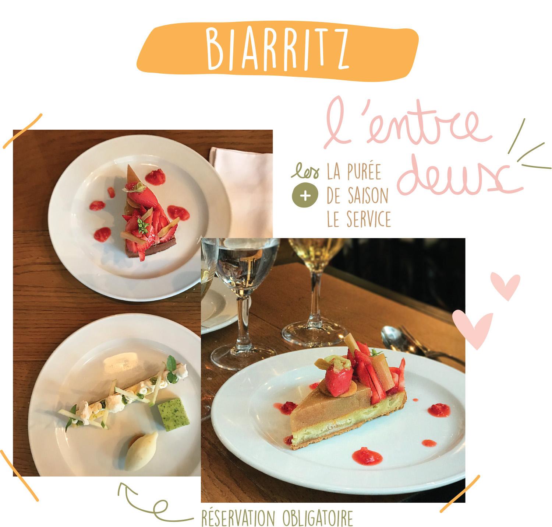 Bonne Adresse Biarritz - l'entre deux - Petits Béguins